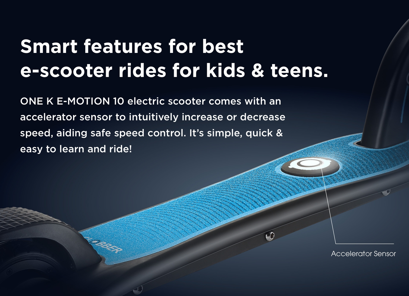 Smart features for best e-scooter rides for kids & teens.