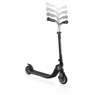 FLOW-FOLDABLE-125-2-wheel-scooter-for-kids-with-adjustable-t-bar-black thumbnail 1