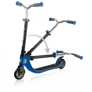 FLOW-FOLDABLE-125-2-wheel-folding-scooter-for-kids-navy-blue thumbnail 2