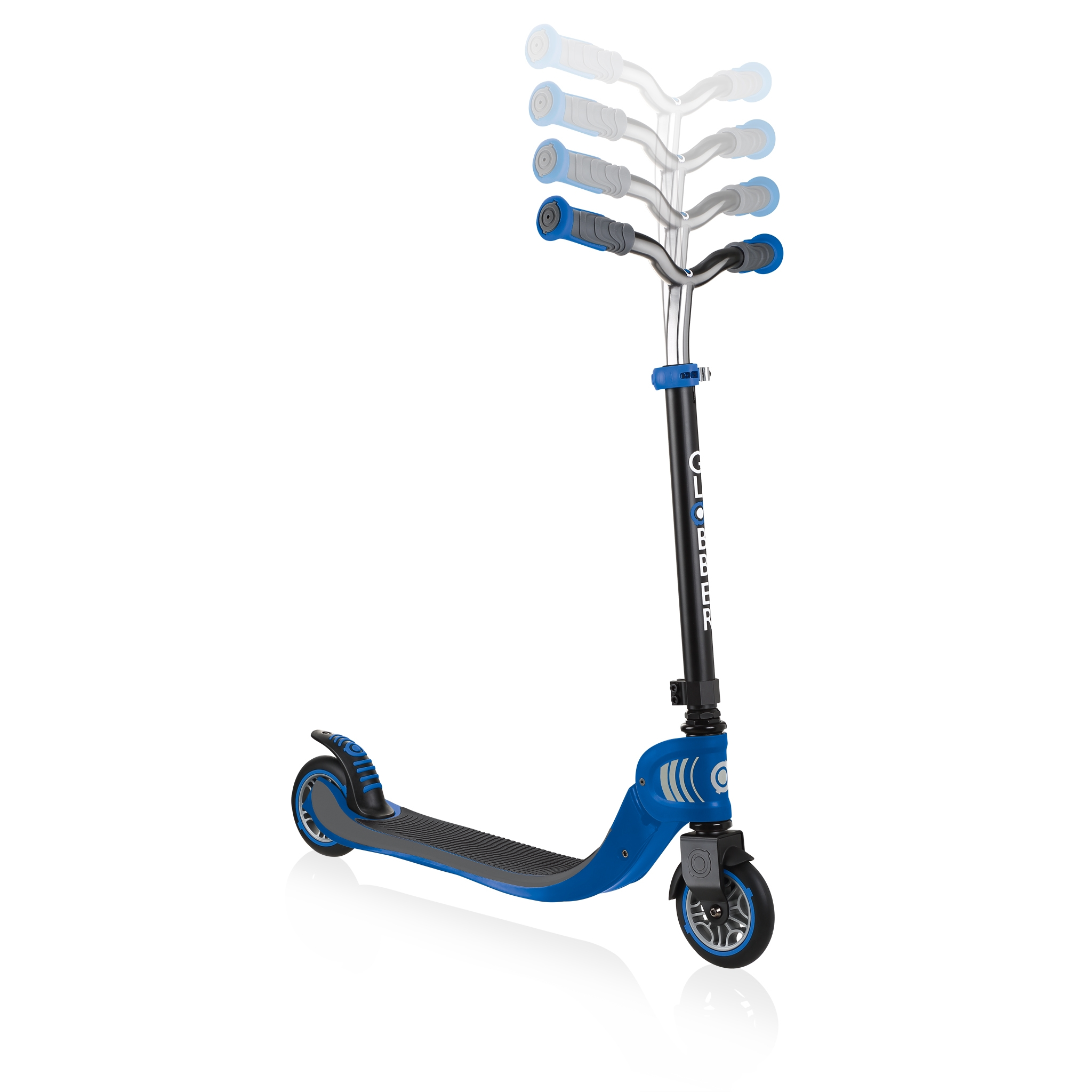 FLOW-FOLDABLE-125-2-wheel-scooter-for-kids-with-adjustable-t-bar-navy-blue 1