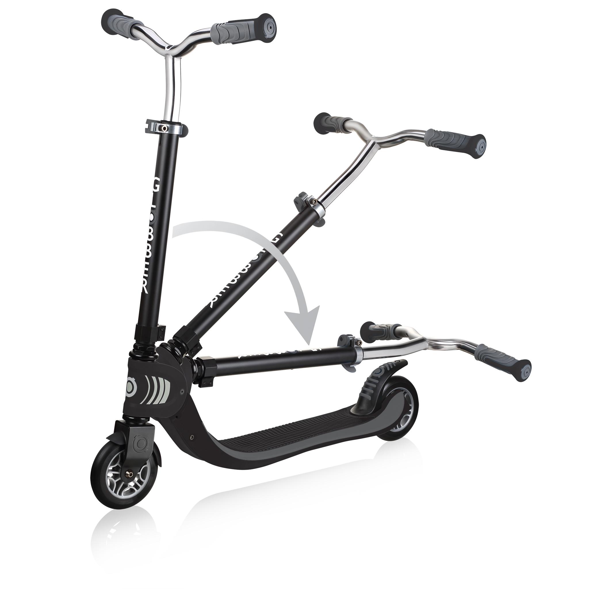 FLOW-FOLDABLE-125-2-wheel-folding-scooter-for-kids-black 2