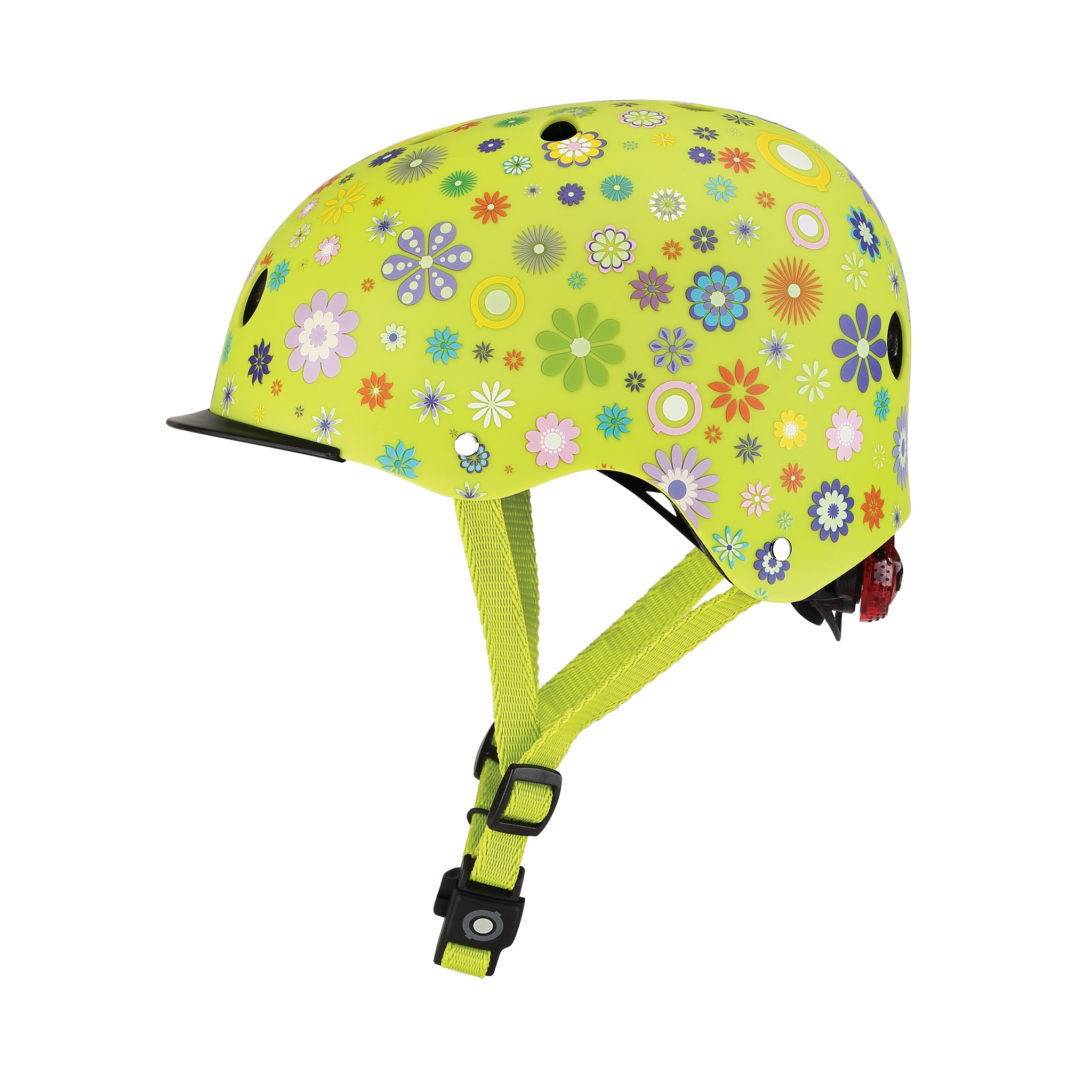 ELITE-helmets-scooter-helmets-for-kids-with-adjustable-helmet-knob-lime-green 1