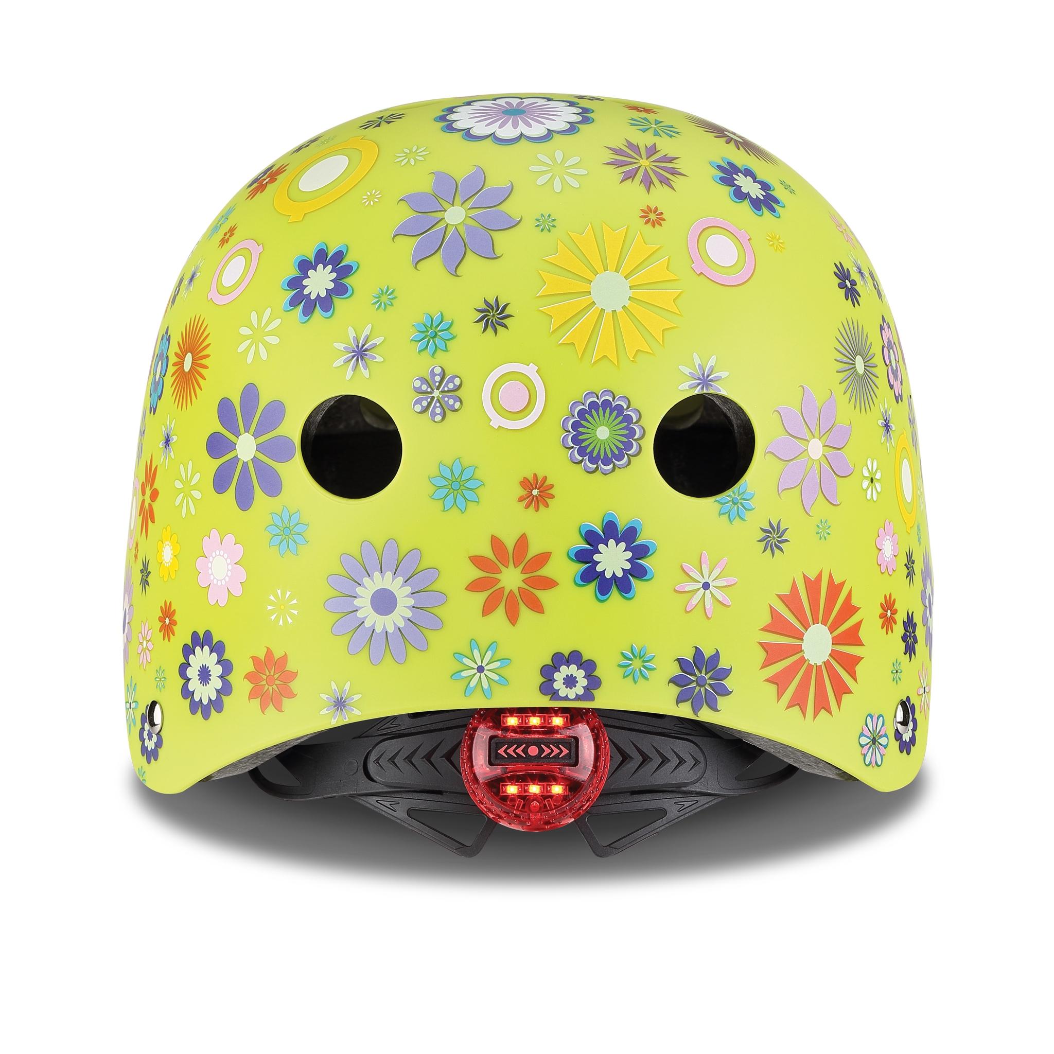 ELITE-helmets-scooter-helmets-for-kids-with-LED-lights-safe-helmet-for-kids-lime-green 2