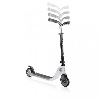 FLOW-FOLDABLE-125-2-wheel-scooter-for-kids-with-adjustable-t-bar-white thumbnail 1