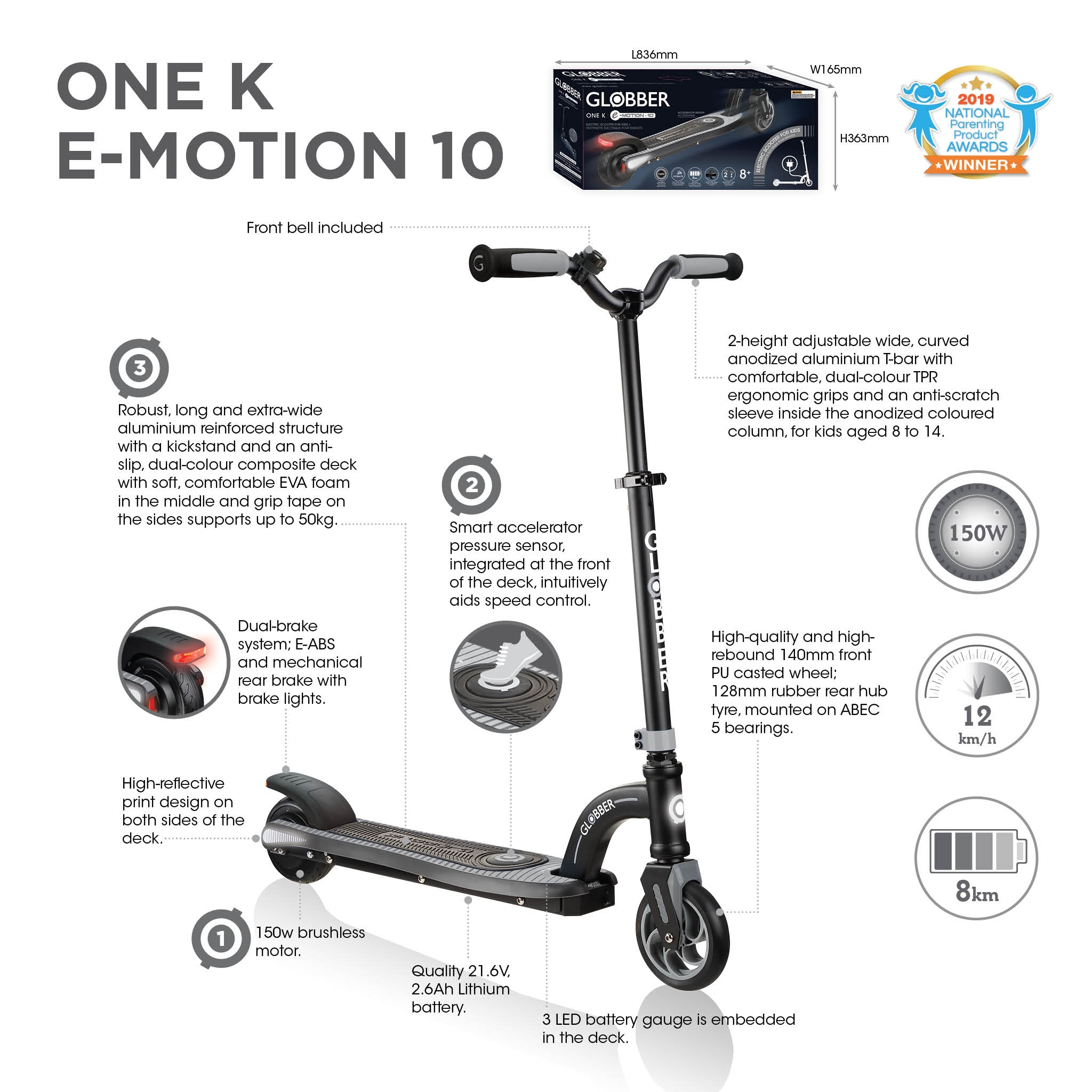 Globber-ONE-K-E-MOTION-10-electric-scooter-for-kids 2