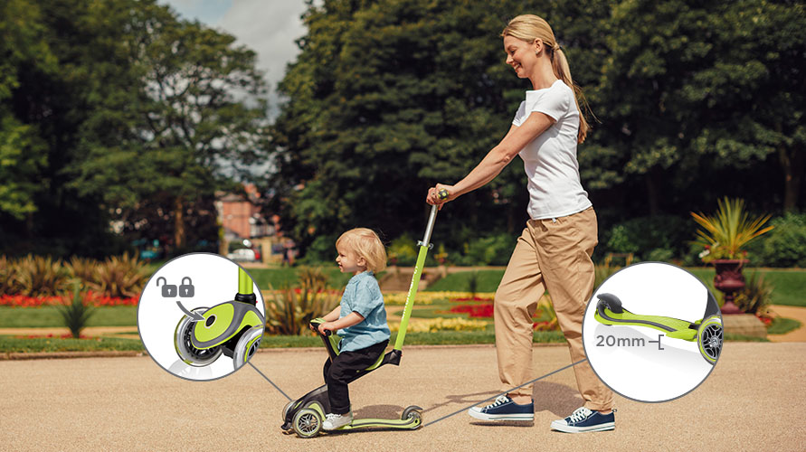 Safe toddler scooter with seat