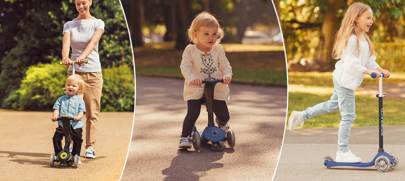 Globber's best toddler scooters with seat - GO UP Series