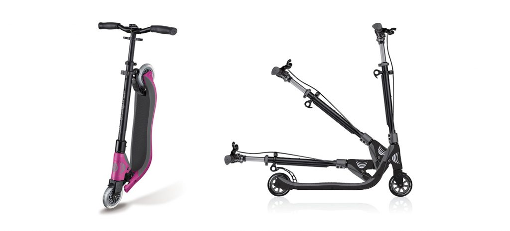 "Globber's ONE NL 125 scooter for teens is a foldable 2-wheel scooter for kids (boys & girls) aged 8+. Easily fold-up the scooter with Globber's patented 1""folding system, and comfortably ride for hours with EVA foam grip tape on the triple structured scooter deck."