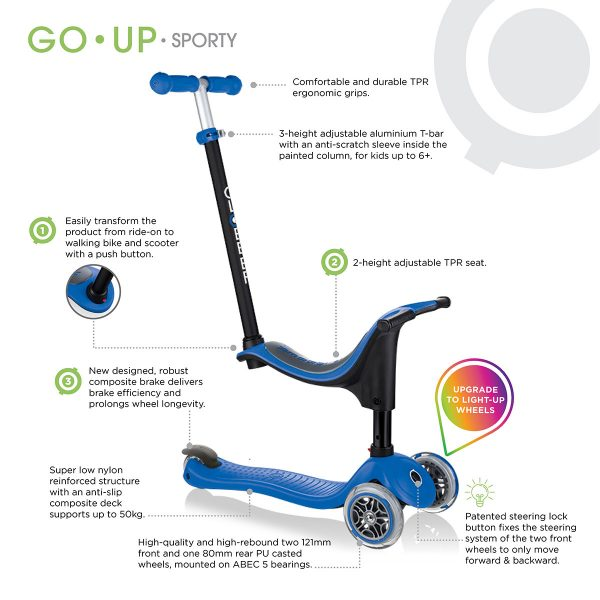 GO UP SPORTY baby scooter with seat