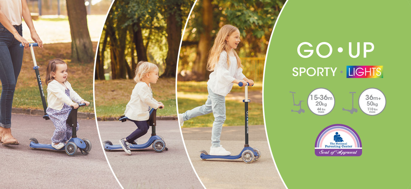 GO UP SPORTY award-winning baby scooter with seat