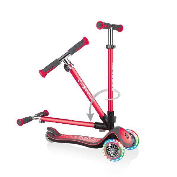 Globber ELITE LIGHTS - Best foldable light up scooter for kids aged 5 to 6 years old