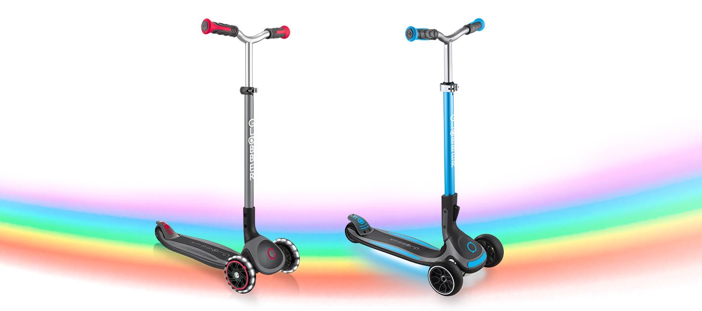 MASTER LIGHTS and ULTIMUM LIGHTS - Globber Light-up Scooters for Big Kids