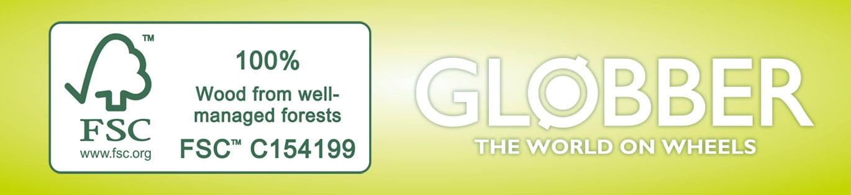 Globber's PRIMO FOLDABLE WOOD LIGHTS made of FSC-certified wood