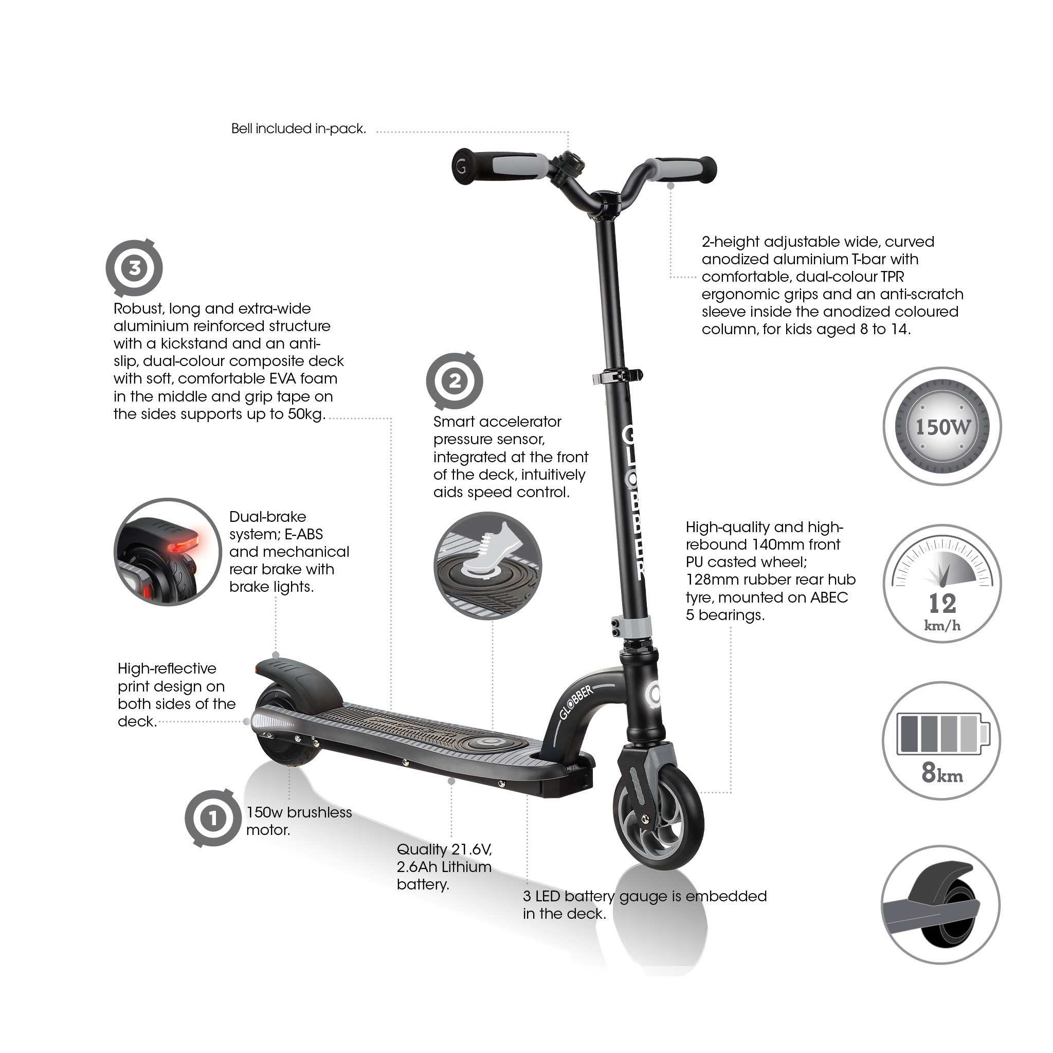 ONE K E-MOTION 10 best electric scooter for kids key features