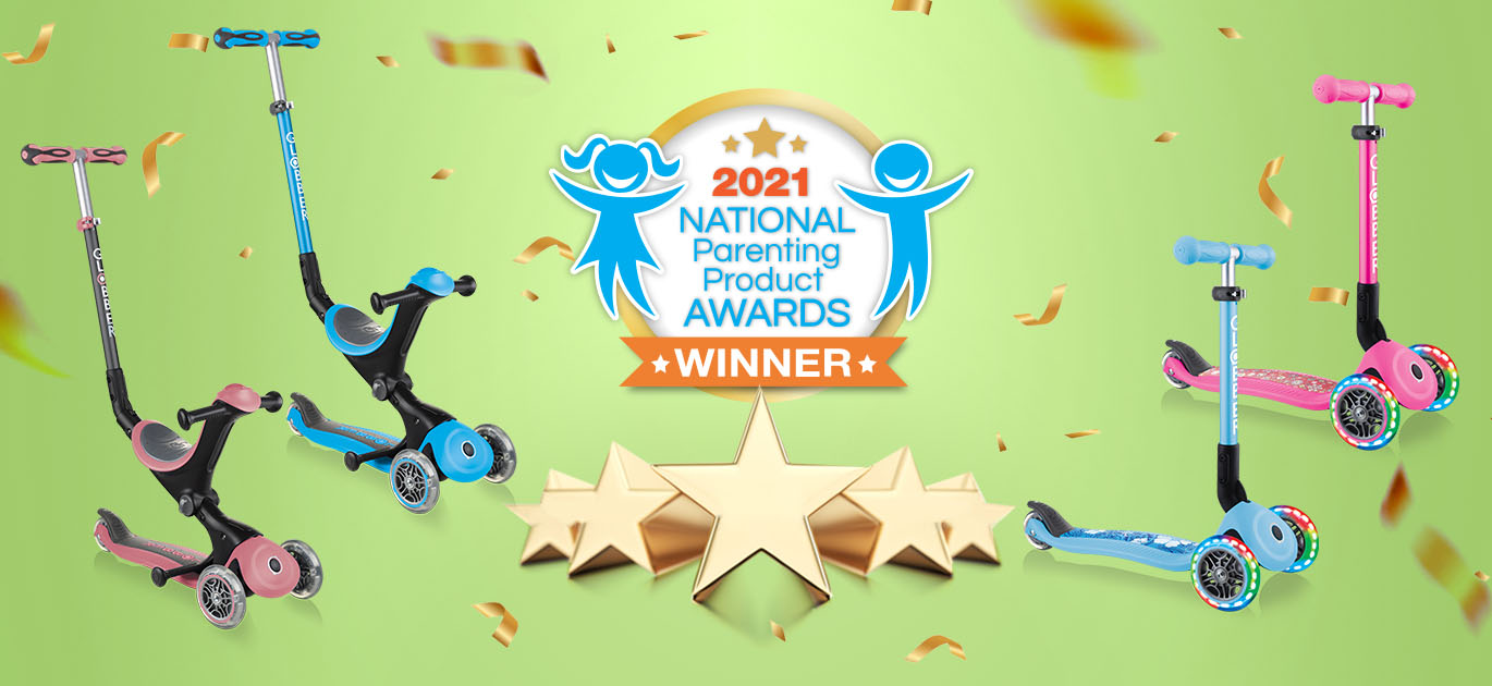 NAPPA awards 2021 - Globber 3-wheel toddler scooters