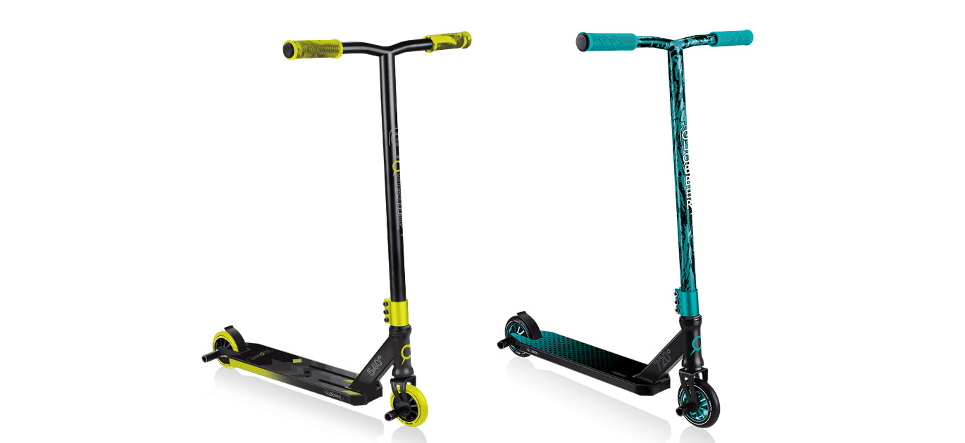 Globber GS 540 and 720 freestyle trick scooters