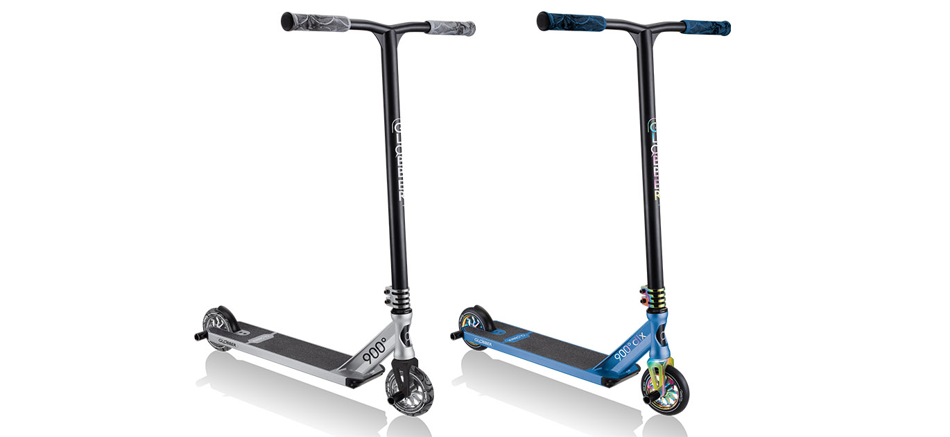 Globber GS 900 and 900 deluxe pro stunt scooters