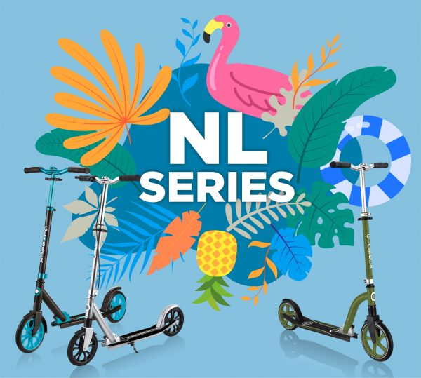 Ride the heatwave with big scooter wheels: Our NL Series for kids is here!