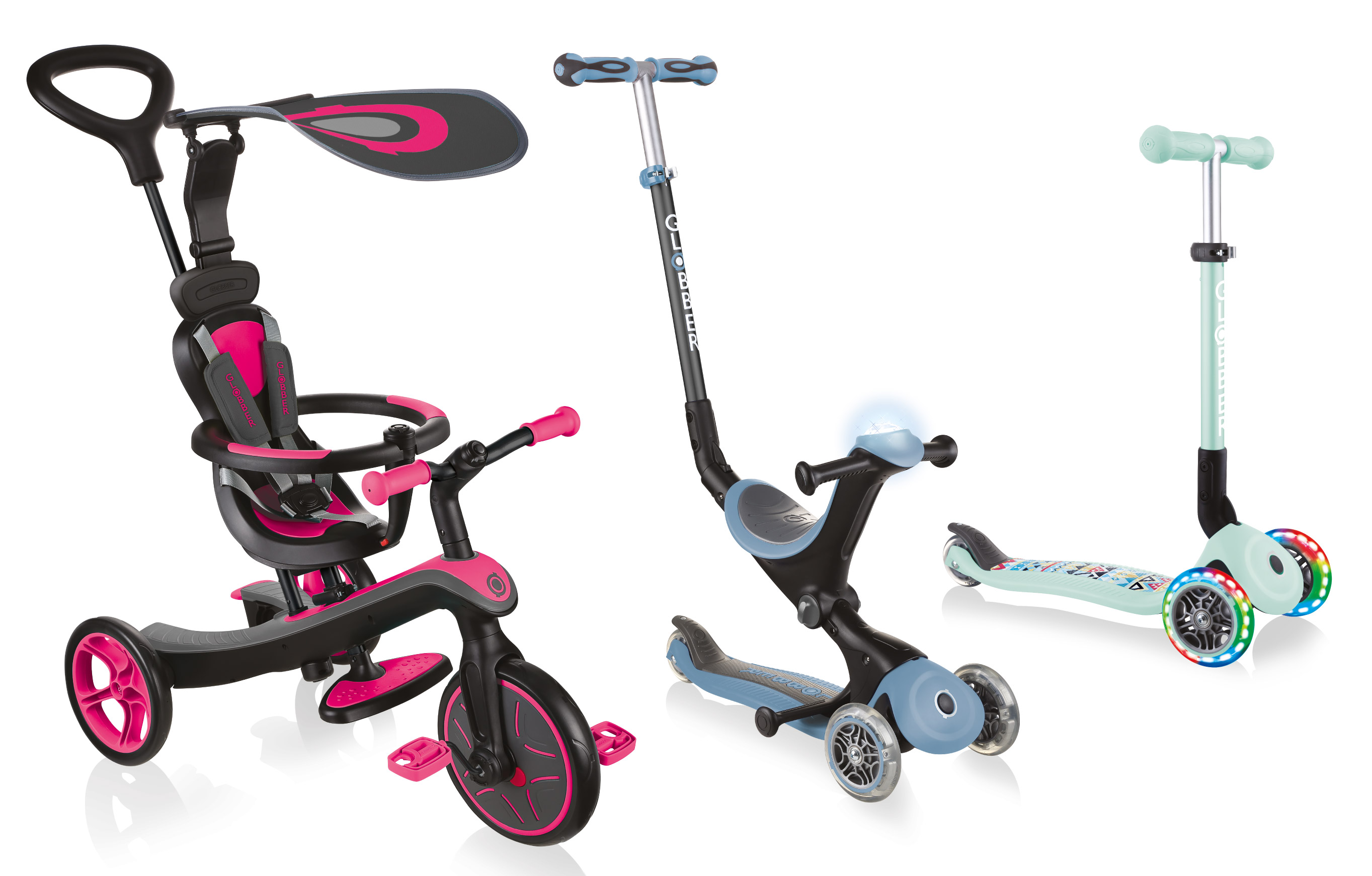 3-wheel scooter, scooter with seat and tricycle for toddlers