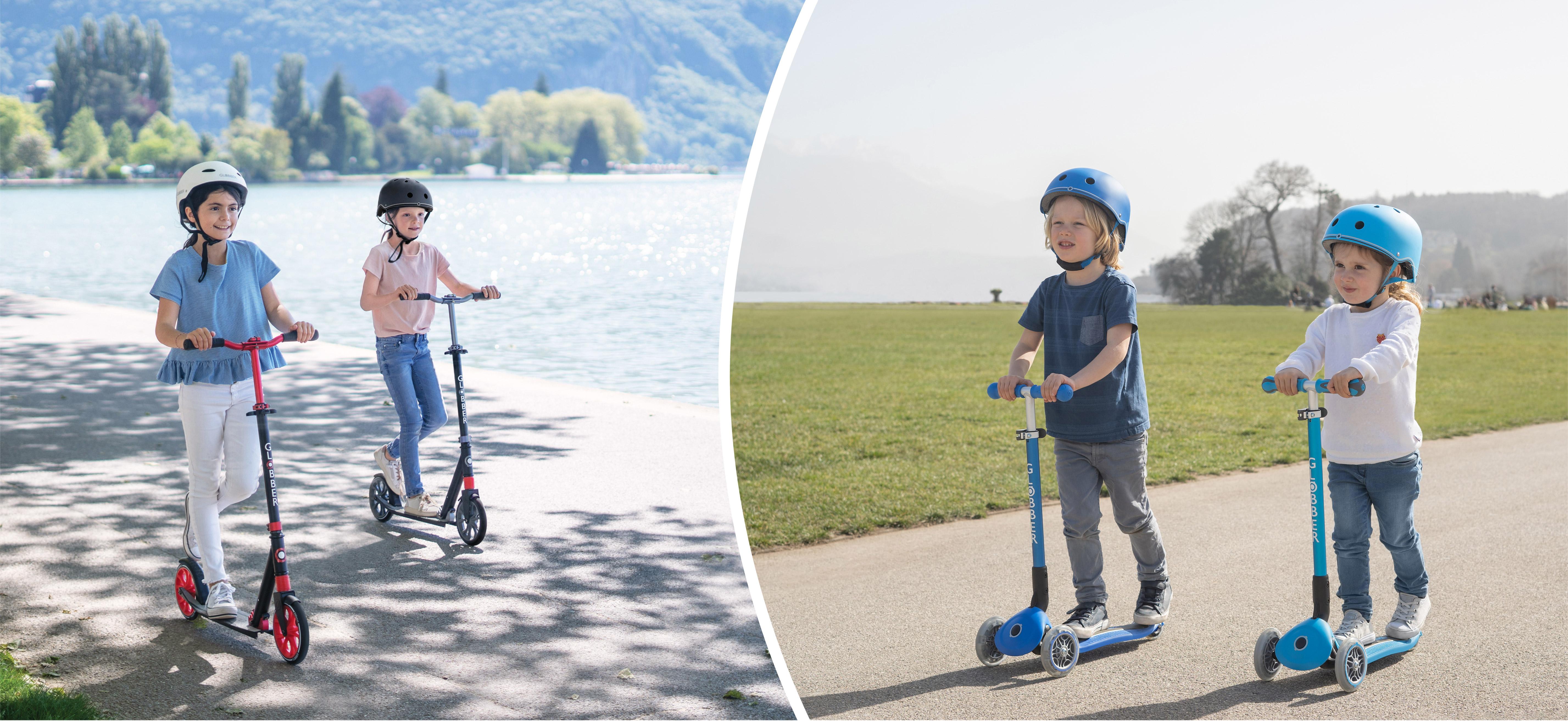 Globber 2-wheel vs 3-wheel scooters