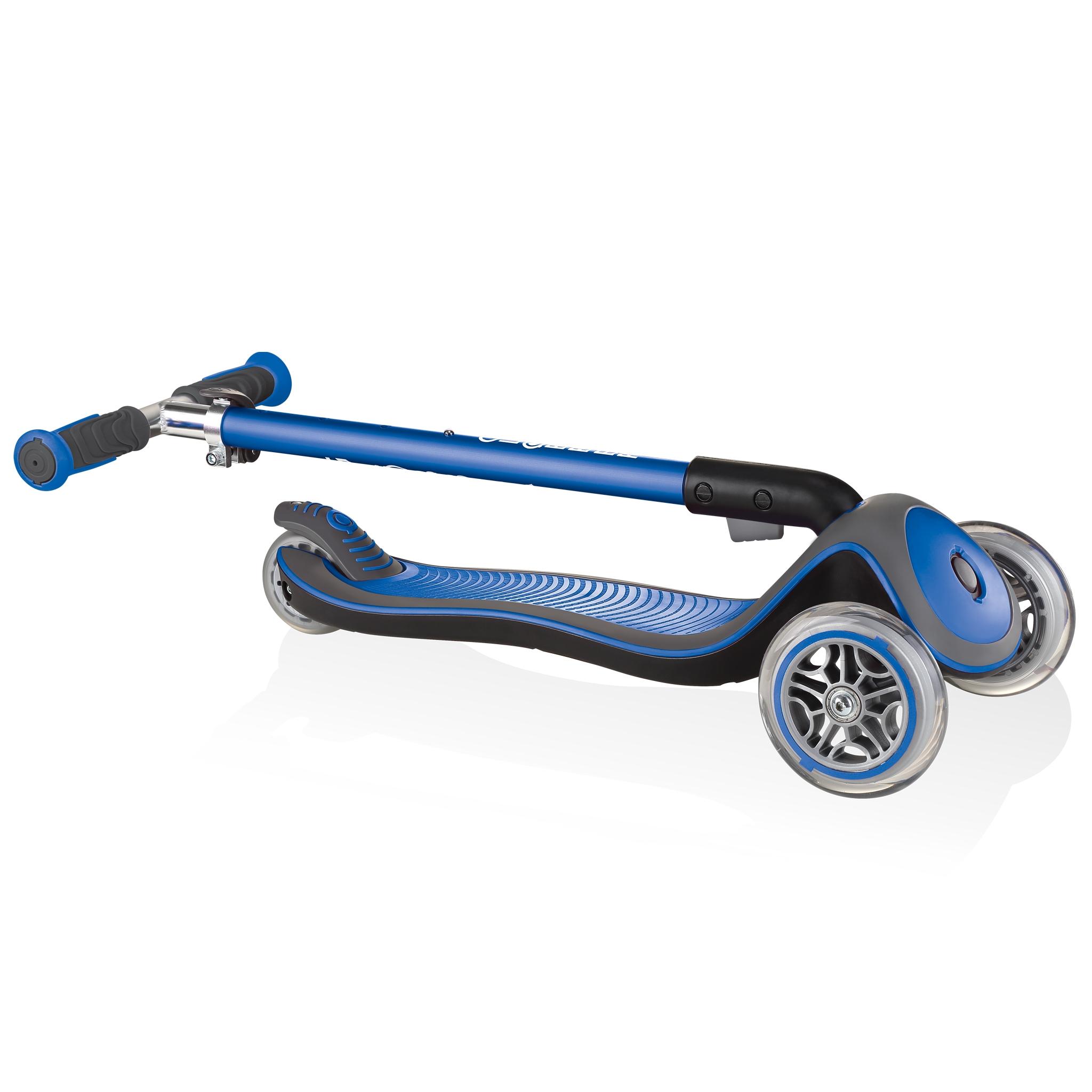 Globber-ELITE-DELUXE-Best-3-wheel-foldable-scooter-for-kids-navy-blue