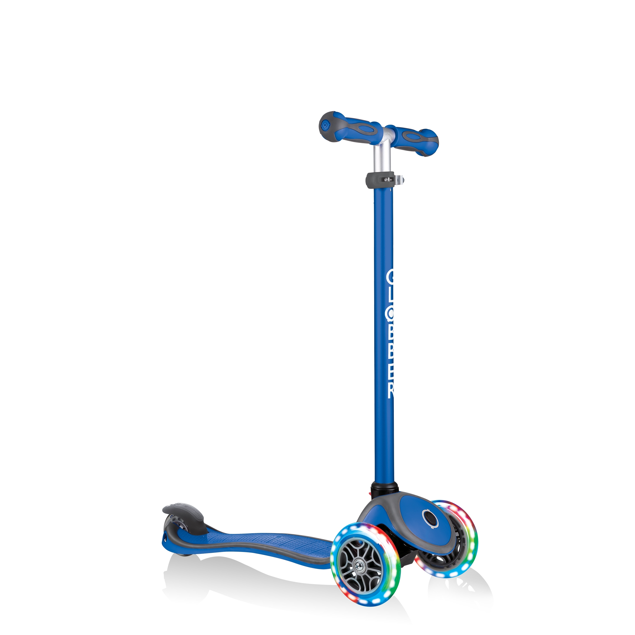 GO-UP-COMFORT-LIGHTS-scooter-with-seat-with-adjustable-T-bar-navy-blue