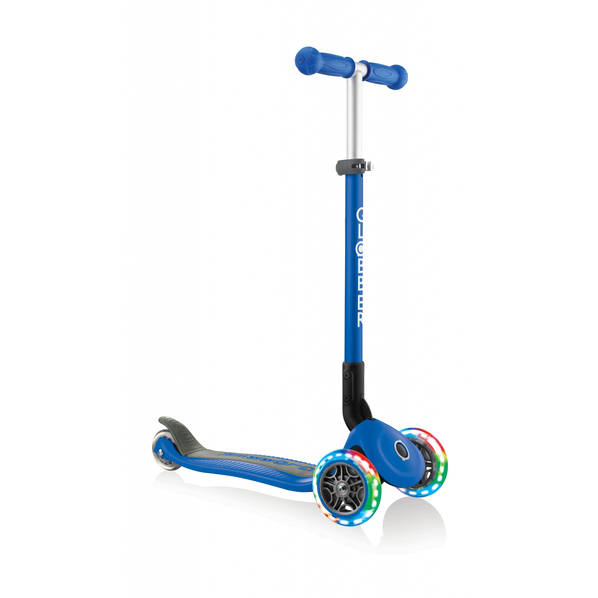 PRIMO-FOLDABLE-LIGHTS-3-wheel-foldable-scooter-light-up-scooter-for-kids-navy-blue 4