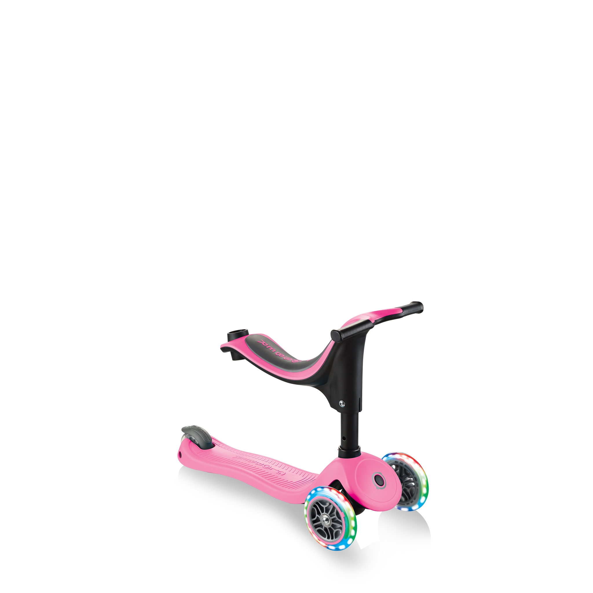 GO-UP-SPORTY-PLUS-LIGHTS-scooter-with-seat-walking-bike-mode_deep-pink 2