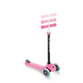 GO-UP-SPORTY-PLUS-LIGHTS-scooter-with-seat-with-adjustable-T-bar_deep-pink thumbnail 5