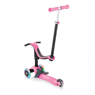 GO-UP-SPORTY-PLUS-LIGHTS-scooter-with-seat-with-removable-footrest_deep-pink thumbnail 3