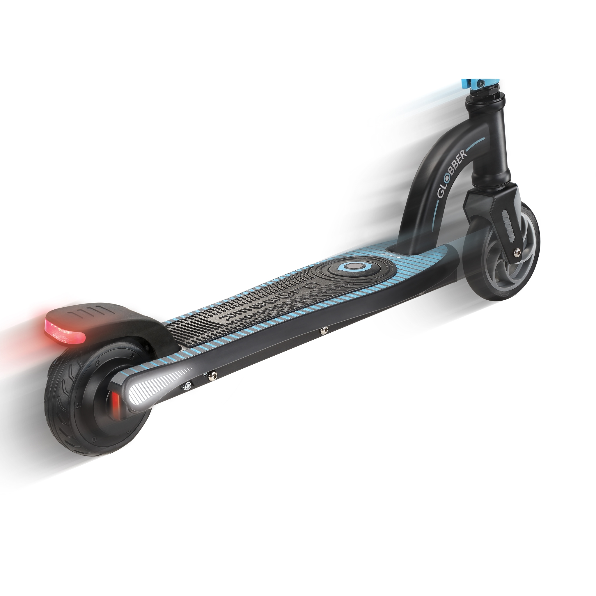 Globber-ONE-K-E-MOTION-10-electric-scooter-for-kids-aluminium-scooter-deck-with-accelerator-pressure-sensor-sky-blue