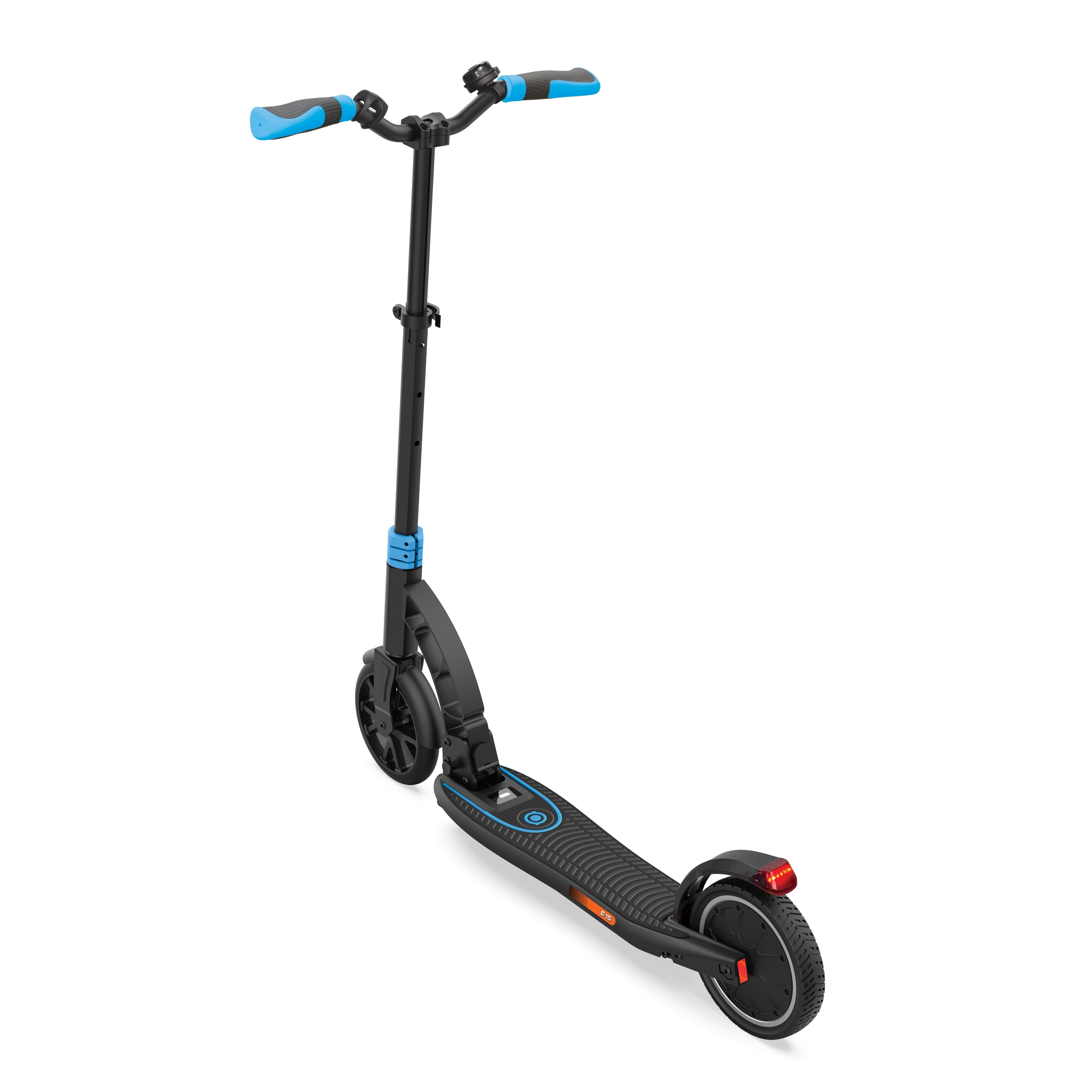 Globber-ONE-K-E-MOTION-15-safe-foldable-electric-scooter-for-teens-and-young-adults-with-dual-brake system-sky-blue