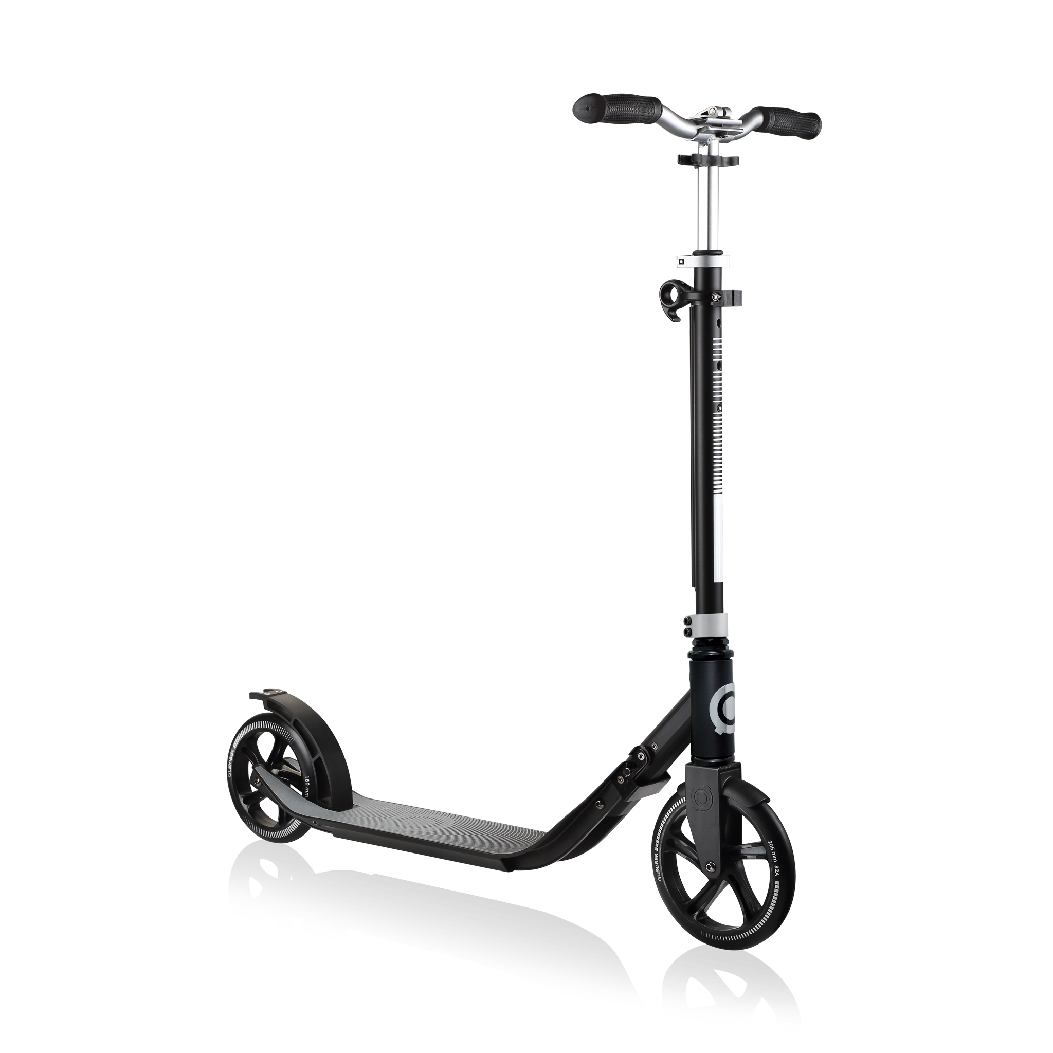 Globber-ONE-NL-205-180-DUO-2-wheel-adjustable-scooter-for-adults-lead-grey 0