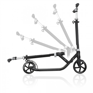 Globber-ONE-NL-205-180-DUO-2-wheel-foldable-scooter-for-adults-1-second-fold-up-scooter-lead-grey thumbnail 2