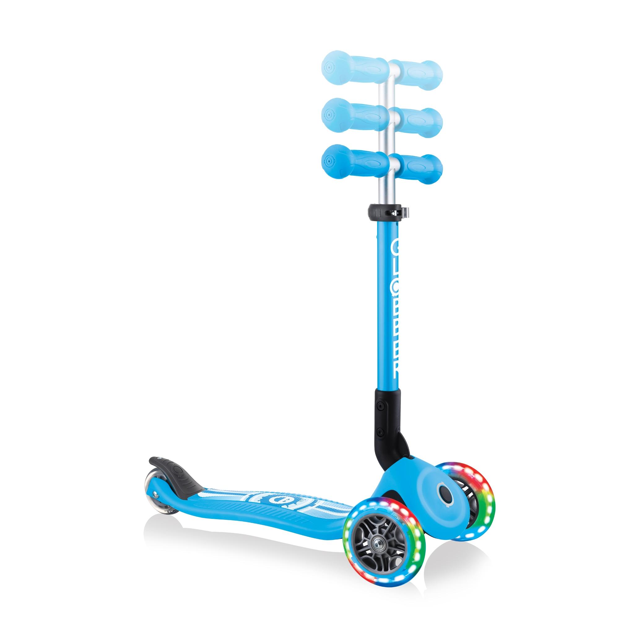 3-wheel-adjustable-scooter-for-toddlers-Globber-JUNIOR-FOLDABLE-FANTASY-LIGHTS