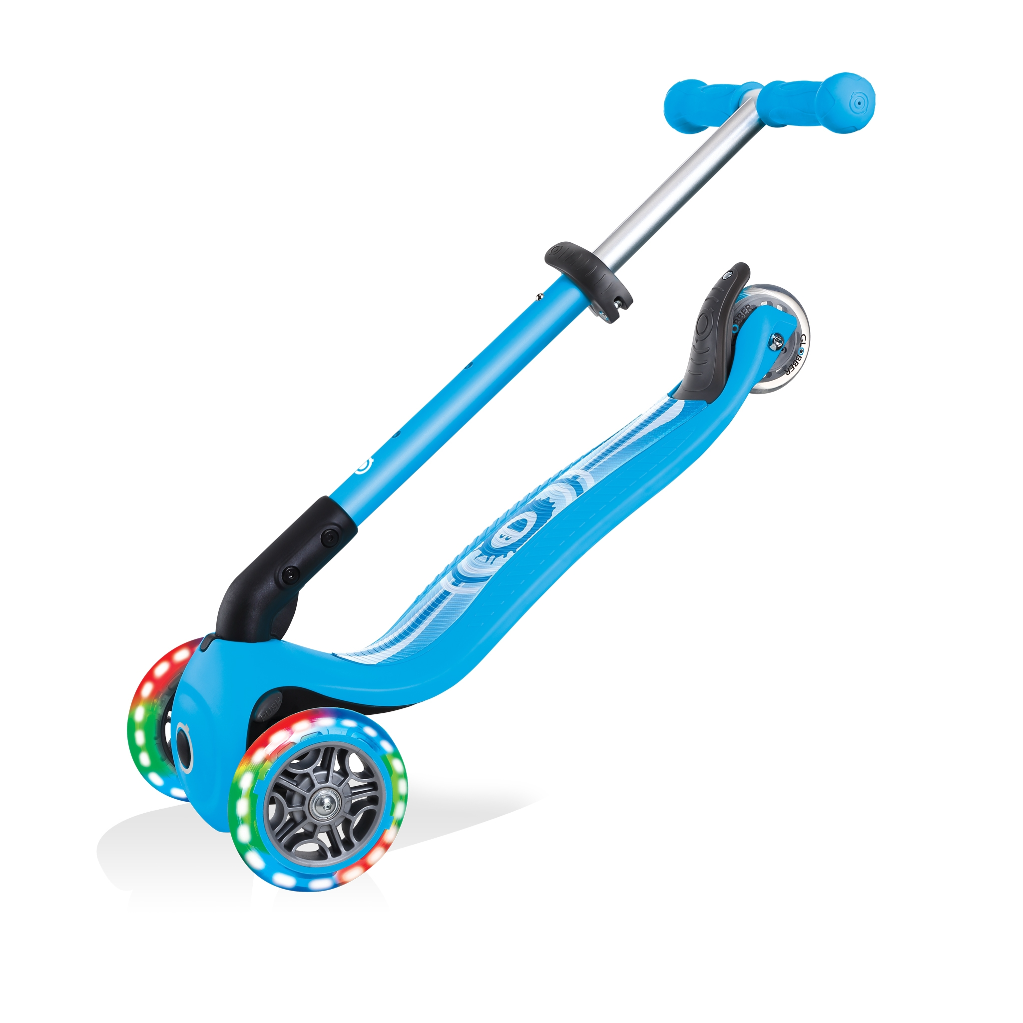 Foldable-3-wheel-toddler-scooter-Globber-JUNIOR-FOLDABLE-FANTASY-LIGHTS