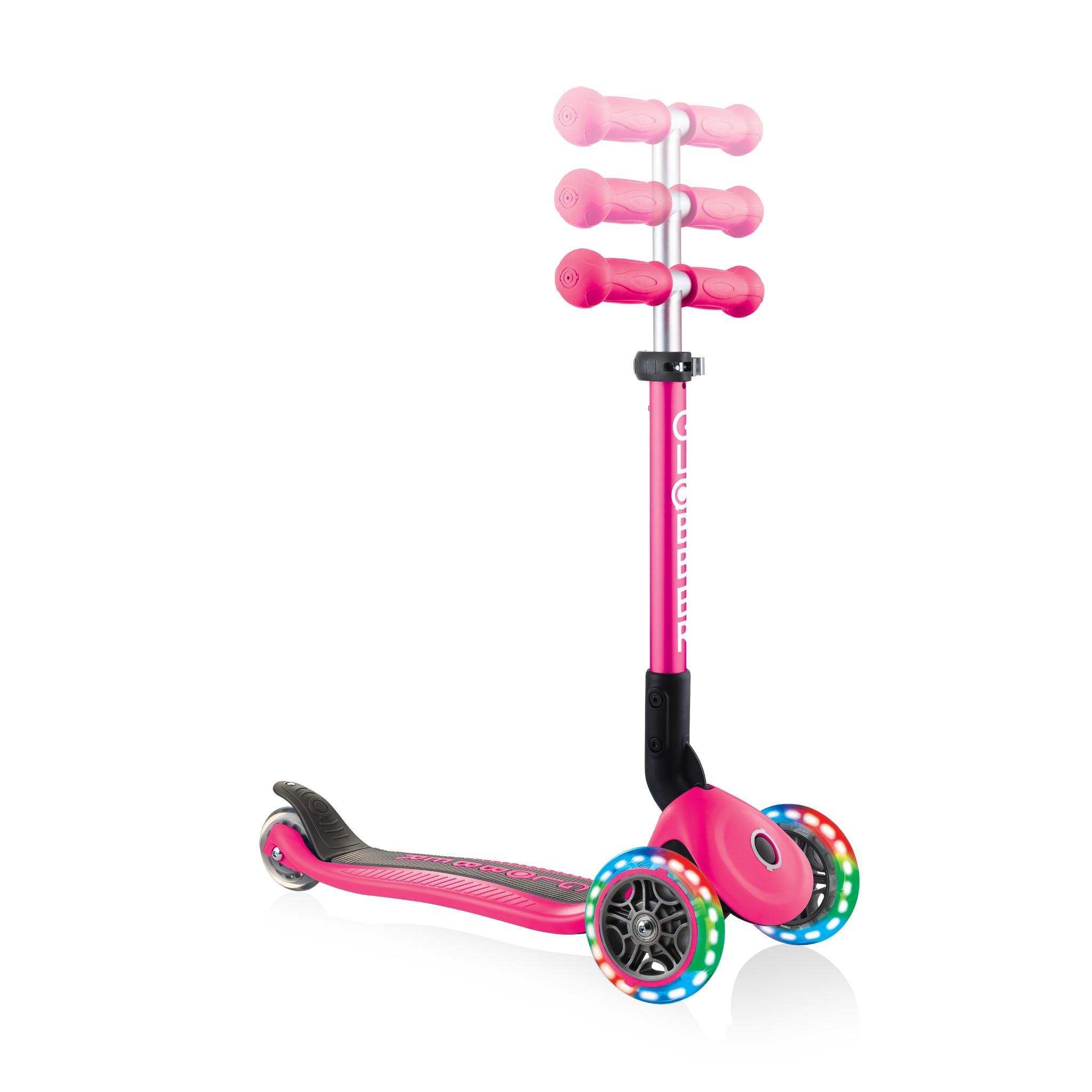 adjustable-3-wheel-scooter-for-toddlers-Globber-JUNIOR-FOLDABLE-LIGHTS 2