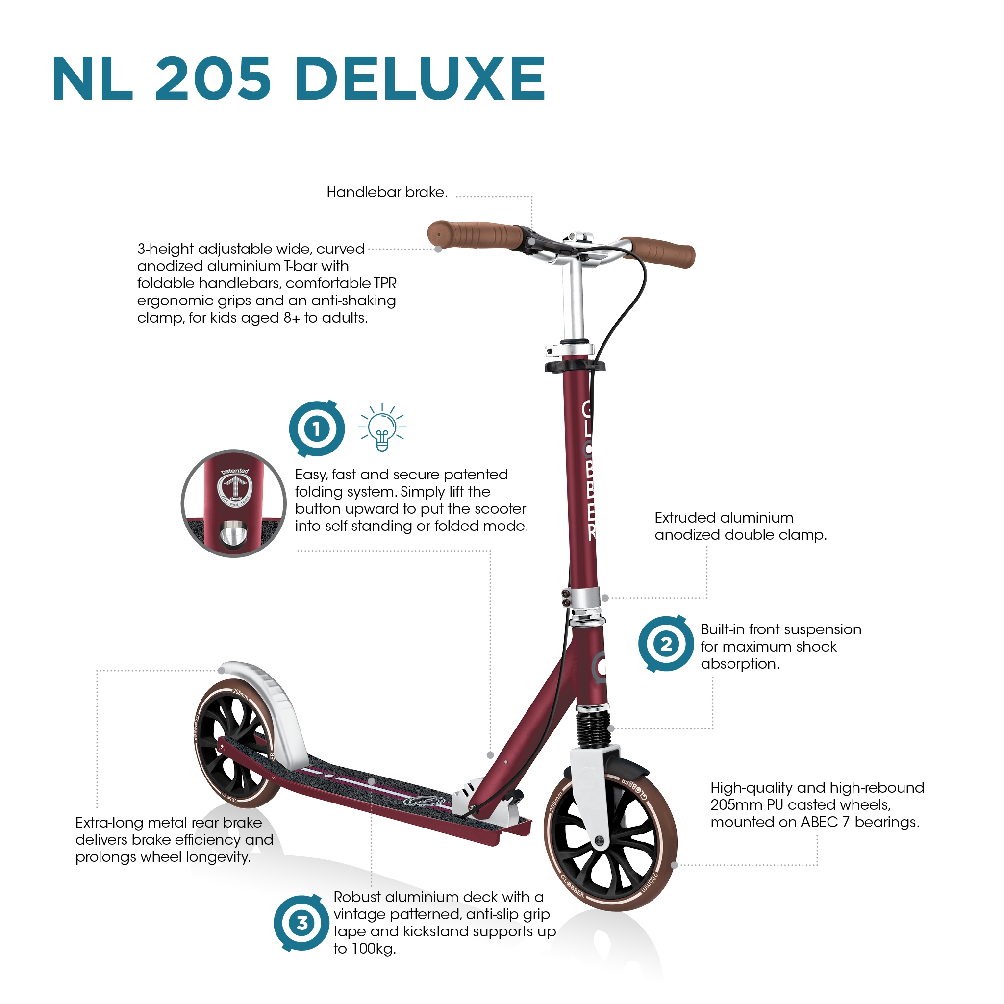 Globber-NL-205-DELUXE-big-wheel-scooter-for-kids-aged-8-and-above 2