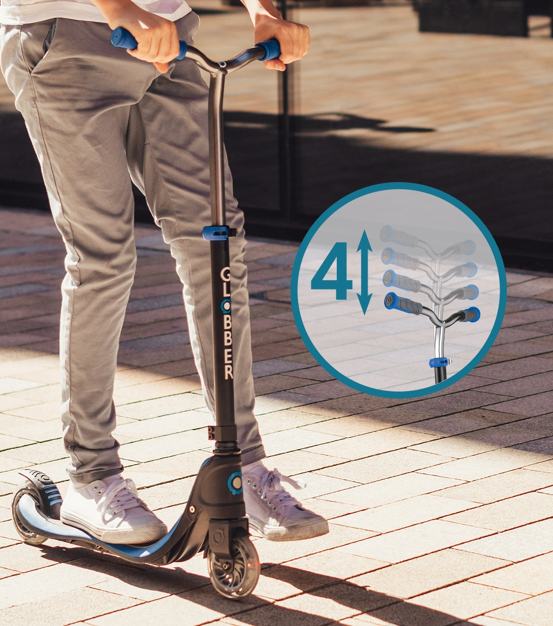 scooter for teenagers with adjustable t-bar