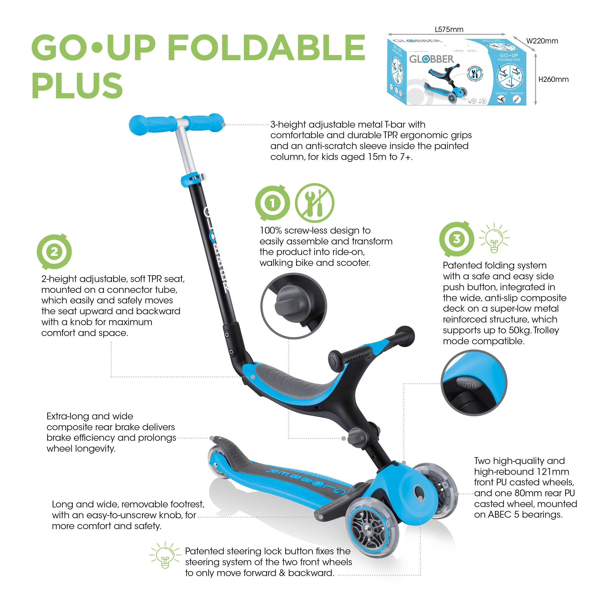 Globber-GO-UP-FOLDABLE-PLUS-scooter-with-seat-for-toddlers 3