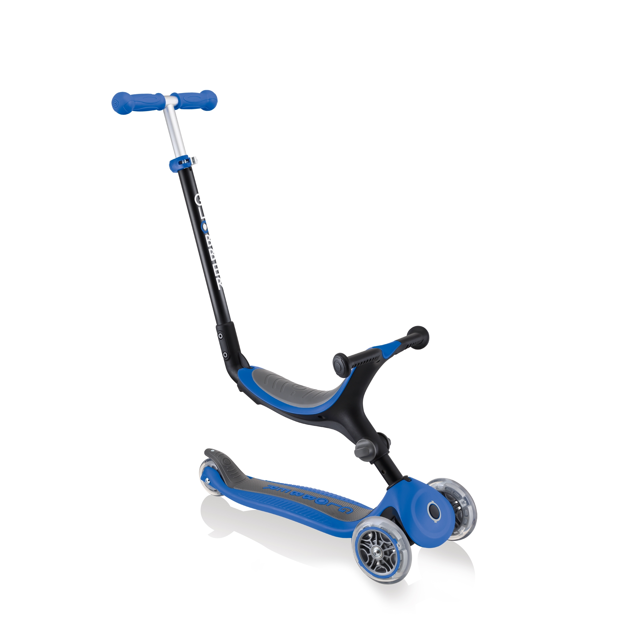 Globber-GO-UP-FOLDABLE-3-in-1-scooter-for-toddlers-ride-on-mode 0