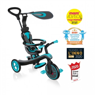 Globber-EXPLORER-TRIKE-4in1-all-in-one-baby-tricycle-and-kids-balance-bike-stage1-infant-trike thumbnail 0