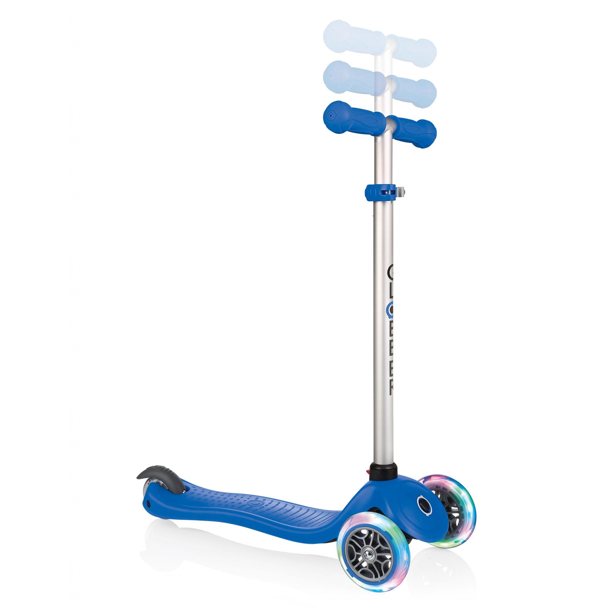 globber evo 4in1 lights trottinette volutive 3 roues pour enfants avec guidon adjustable et. Black Bedroom Furniture Sets. Home Design Ideas