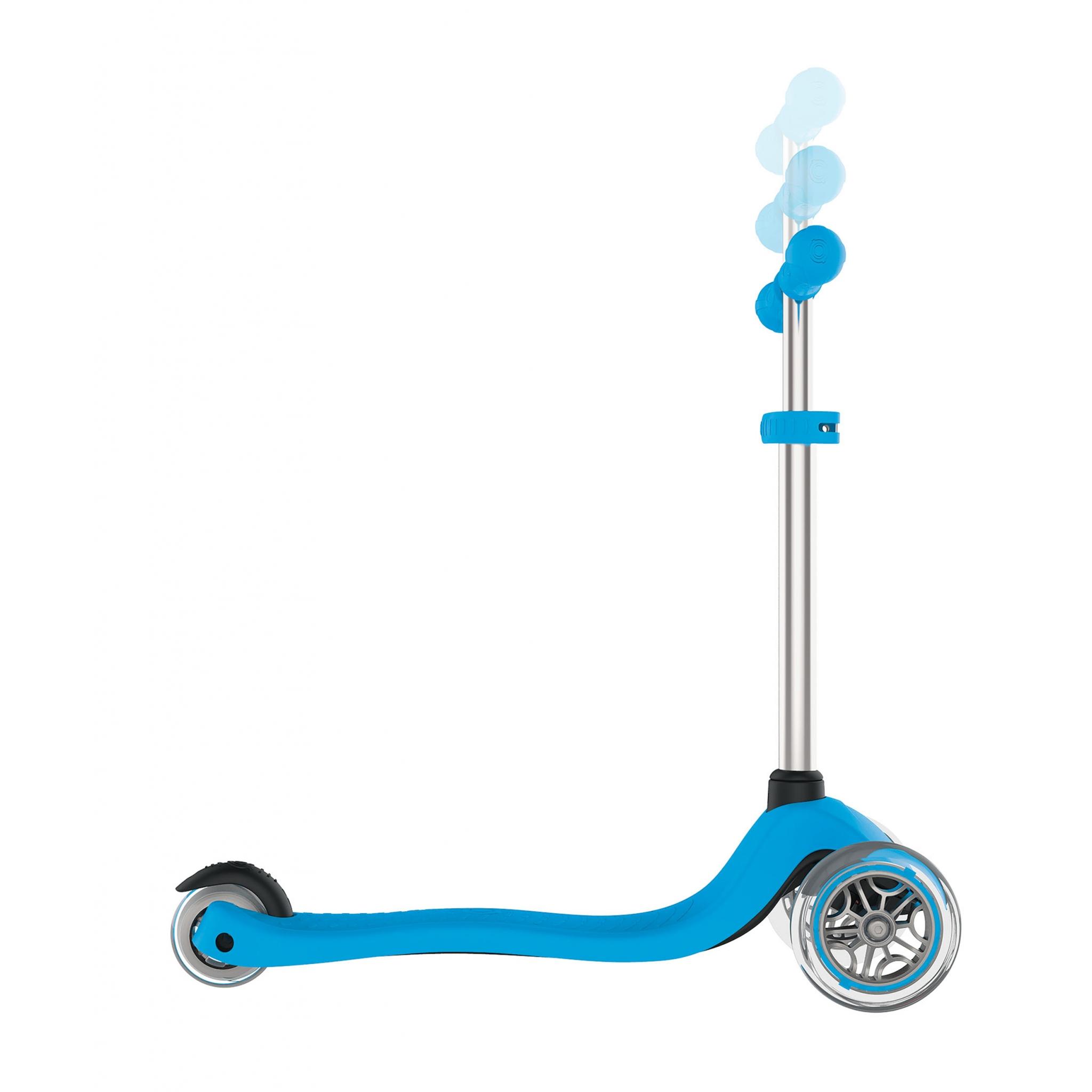 globber primo trottinette 3 roues pour enfants avec guidon ajustable et bouton de blocage de la. Black Bedroom Furniture Sets. Home Design Ideas
