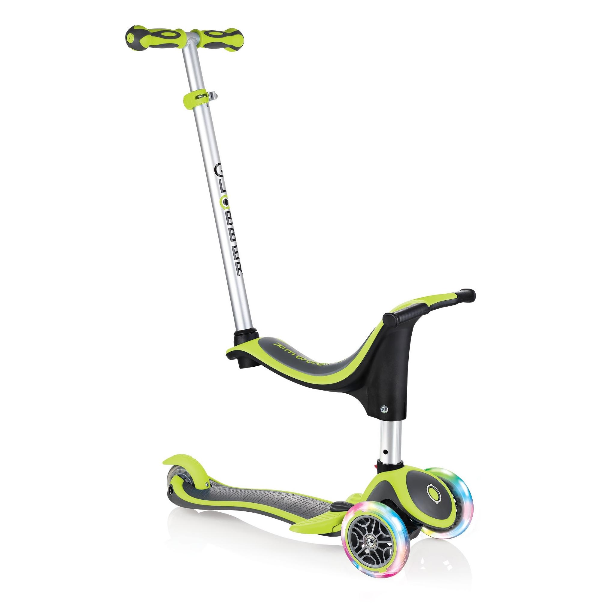 globber evo 4in1 plus lights trottinette 3 roues pour enfants volutive avec guidon adjustable. Black Bedroom Furniture Sets. Home Design Ideas