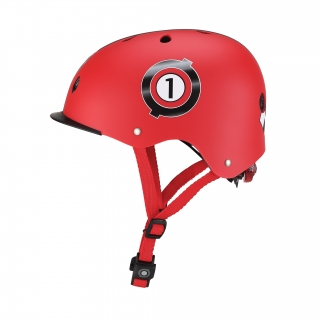 ELITE-helmets-scooter-helmets-for-kids-with-adjustable-helmet-knob-new-red thumbnail 1