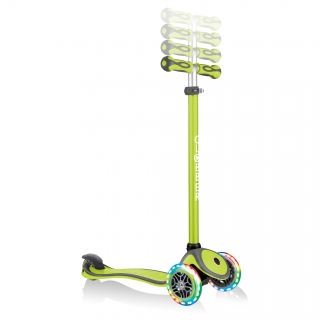 GO-UP-COMFORT-LIGHTS-scooter-with-seat-4-height-adjustable-T-bar-lime-green thumbnail 5
