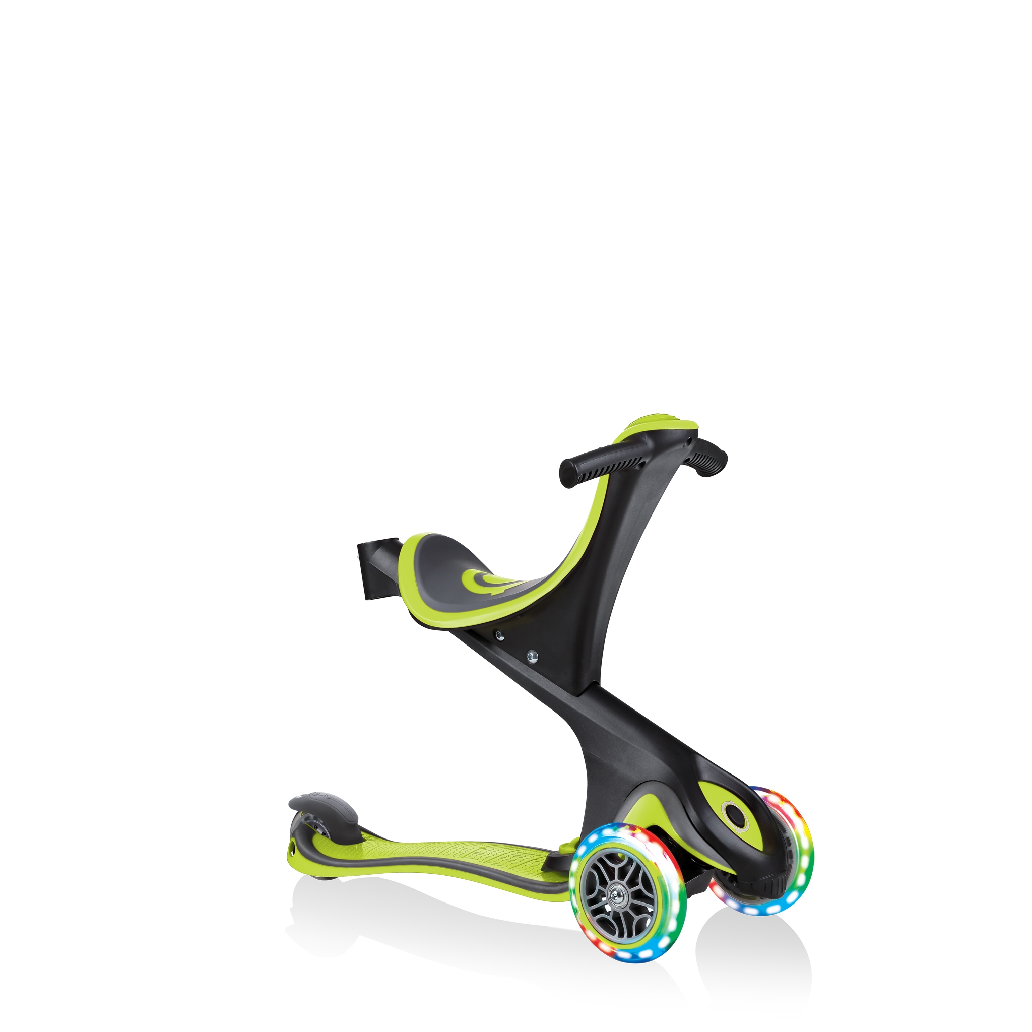 GO-UP-COMFORT-LIGHTS-scooter-with-seat-walking-bike-lime-green 2