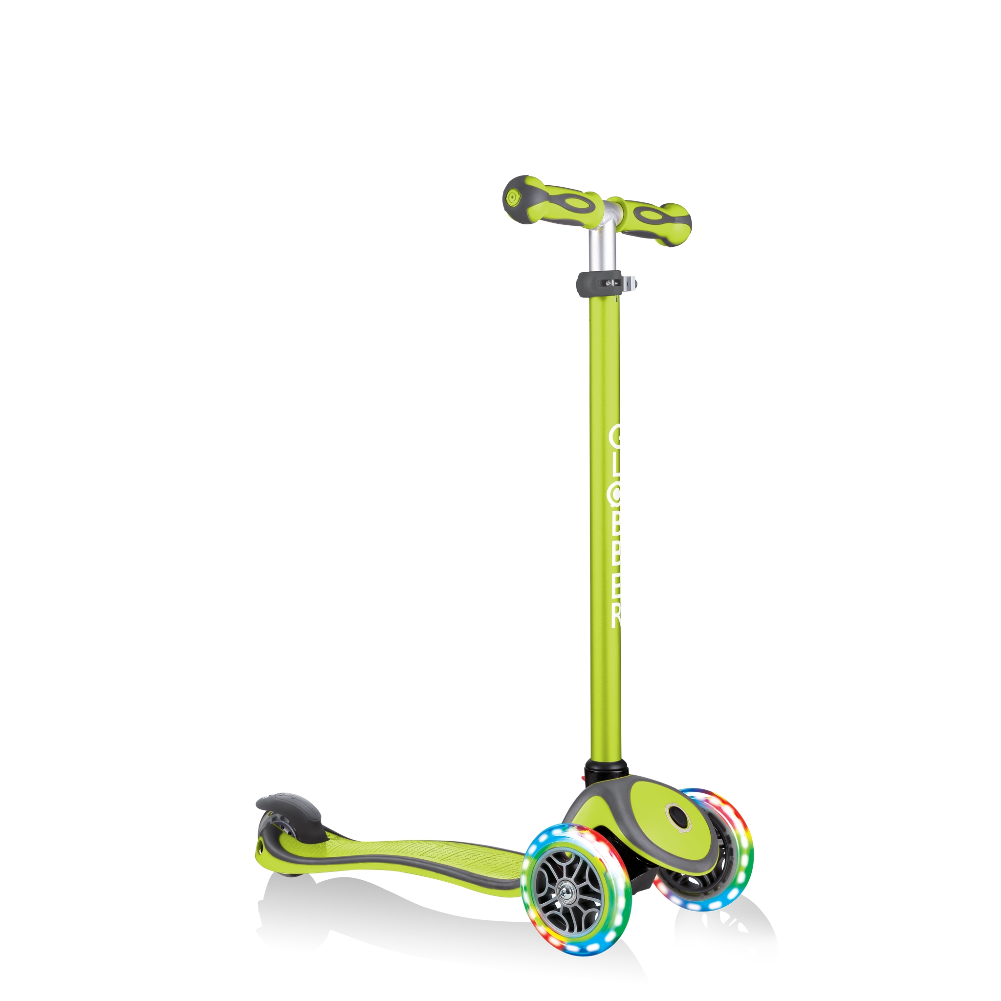 GO-UP-COMFORT-LIGHTS-scooter-with-seat-with-adjustable-T-bar-lime-green 4