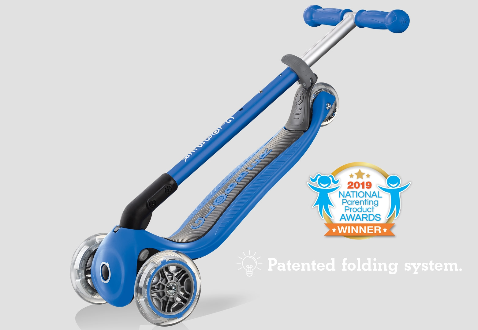 Folding 3 wheel scooter for kids